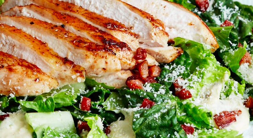 #WhatsCookinWednesday Keto Chicken Caesar Salad