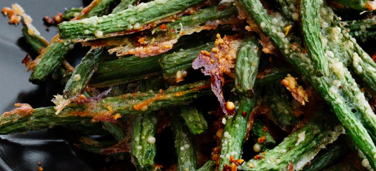 #WhatsCookinWednesday Keto Christmas Parmesan Roasted Green Beans